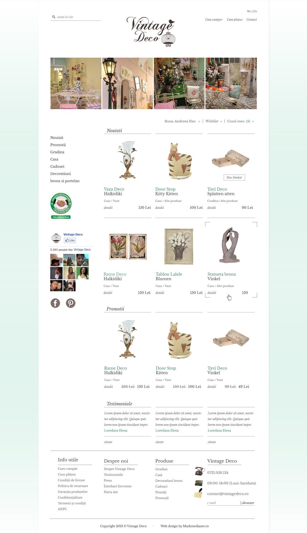 Vintage Deco - magazin online pentru decoratiuni