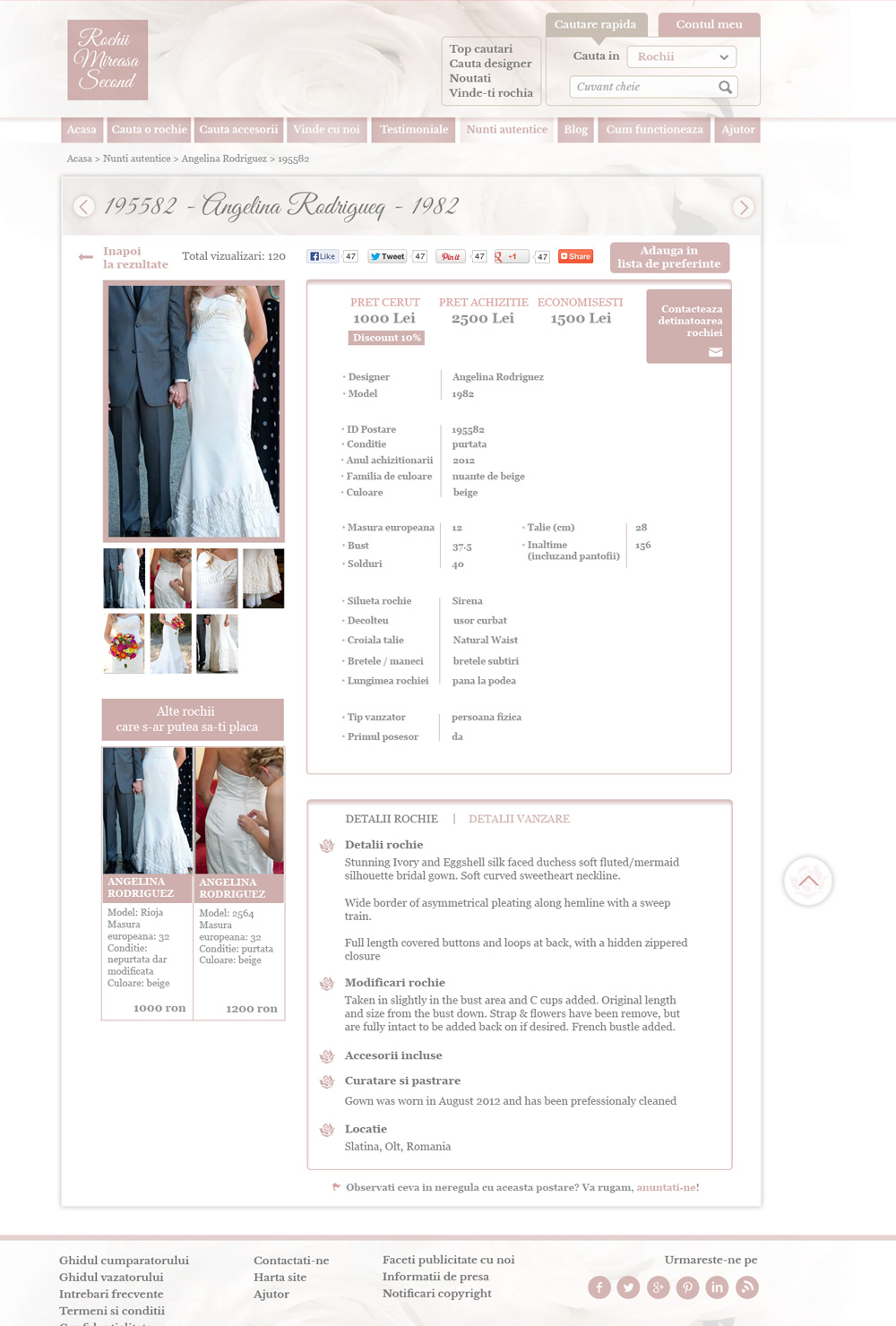 Pagina detaliu produs