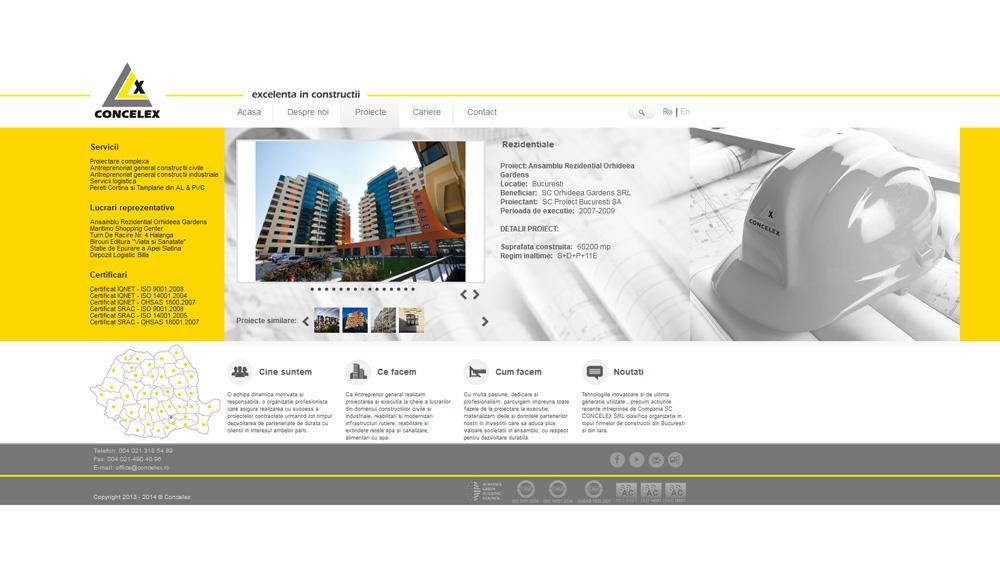 Concelex - Excelenta in Constructii - web design pagini interioare