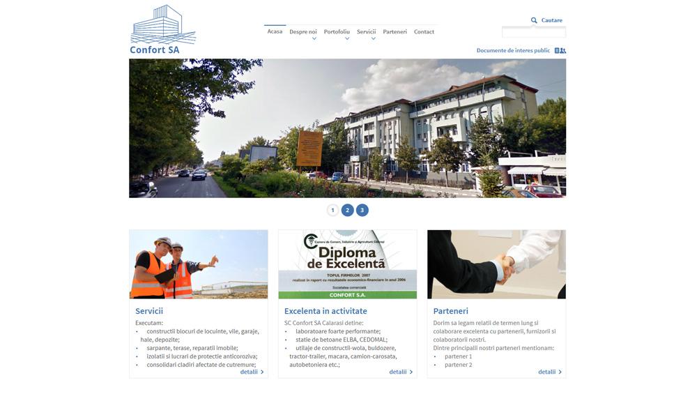 Confort SA - web design personalizat