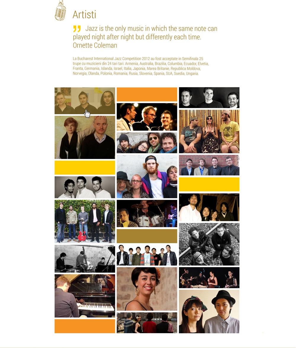 Jazz Competition - web design & development -  portofoliu web design