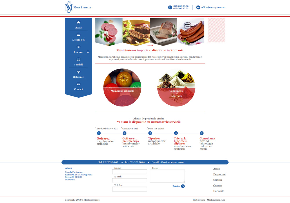 Meat Systems - web design personalizat