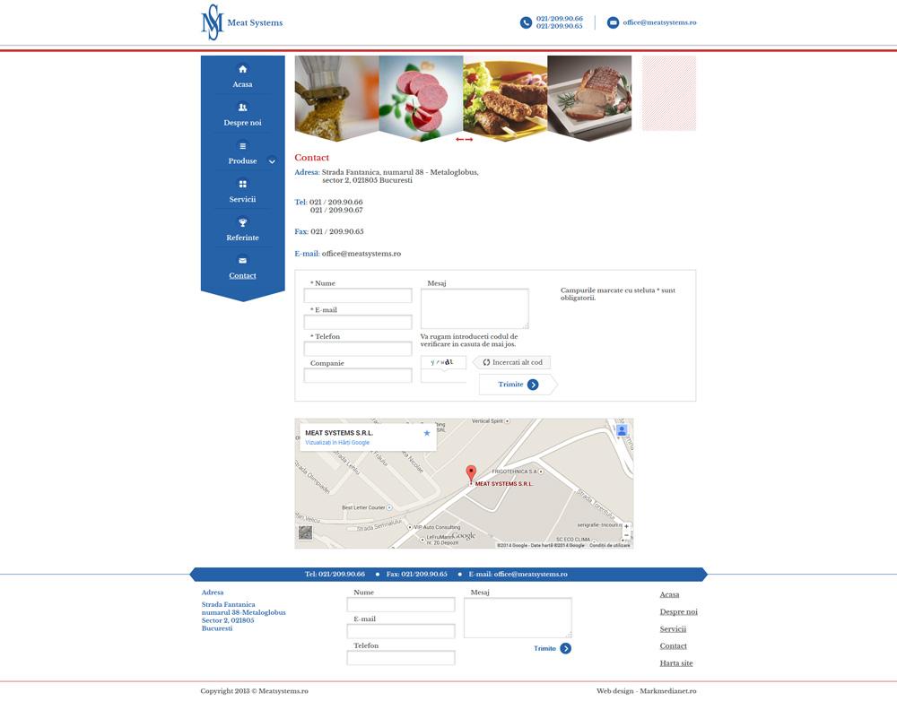 Meat Systems - web design personalizat - pagina continut